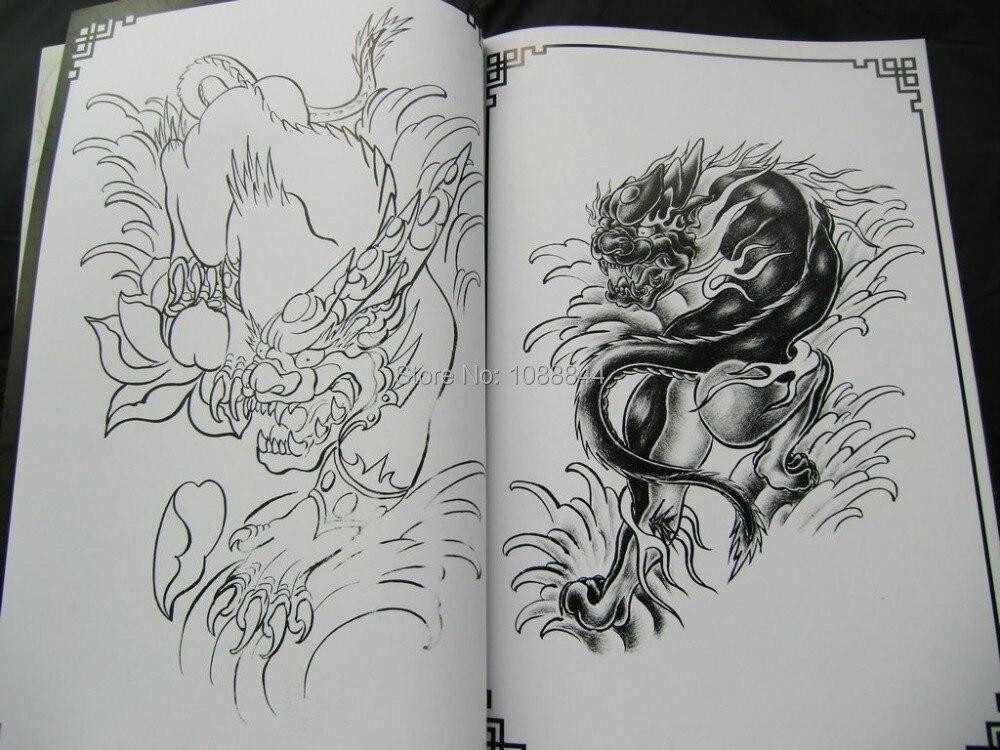 Line Art Animals Tattoo : Wholesale tattoo flash book traditional auspicious fantasy