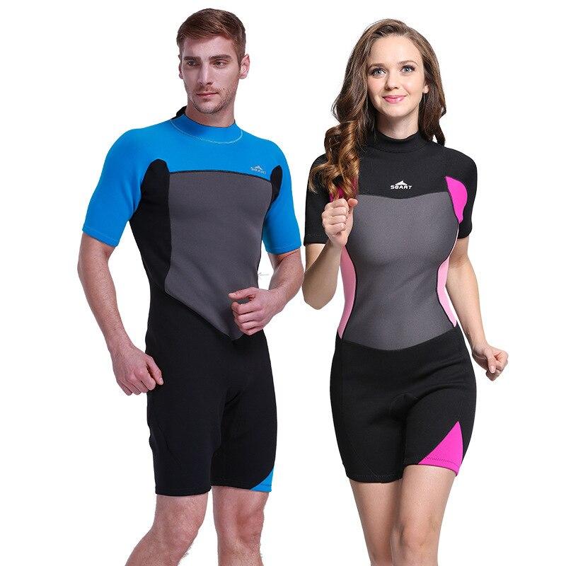 45d5ed0c78 2mm Premium Neoprene Wetsuits Short Sleeve Spring Diving Suit Jumpsuit  Swimwear for Men Women Scuba Diving Snorkeling Swimming