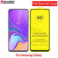 9D Full Cover Tempered Glass for SAMSUNG Galaxy A50 A30 A10 A70 A90 M10 M20 M30 A8S Glue Screen Protector Protective Film