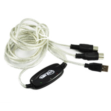 USB Midi Cable Lead Adaptor for Musical Keyboard to PC Laptop XP Vista Mac