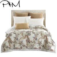 Papa et Mima Western style Courtepointe Douillette Couette D'été Double Reine Taille Couvertures Plaid 100% Coton Tissu