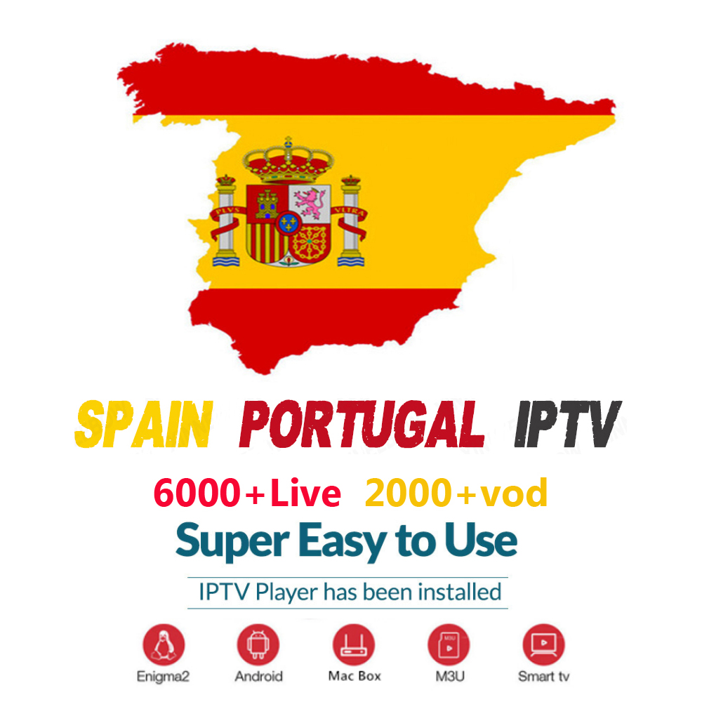 HD iptv subscription Europe IPTV for poland spain Portugal French brasil smart World android tv box 2gb box tv iptv box usa(China)