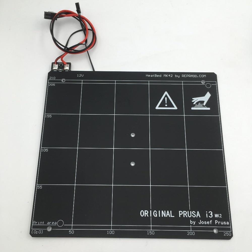 Original mk2 Prusa i3 3d PCB printer cama aquecida com fita PEI Clonado