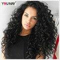 Предварительно Сорвал 360 Парик Шнурка Для Чернокожих Женщин 180% Плотность Бразильский свободные Вьющиеся Волны 8А Полное Кружева Человеческих Волос Парики С Ребенком волос