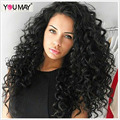 Pre Plucked 360 Lace Wig For Black Women 180% Density Brazilian Loose Curly Wave 8A Full Lace Human Hair Wigs With Baby Hair