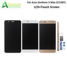For Asus Zenfone 3 Max ZC520TL LCD Display Touch Screen 5.2 +Tools And Adhesive Digitizer Assembly White Black Gold