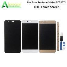 Voor Asus Zenfone 3 Max ZC520TL Lcd Touch Screen 5.2 + Gereedschap En Lijm Digitizer Vergadering Wit Zwart goud