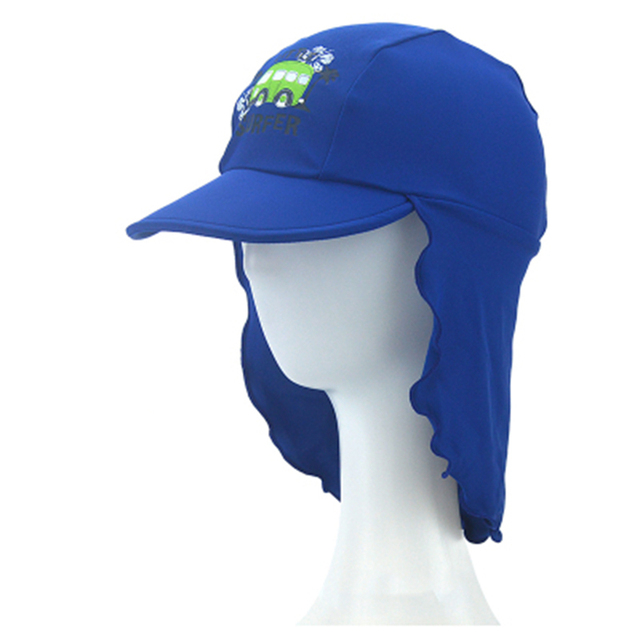 3-10 Years Children s Summer Beach UV Cut Cap Baby Hat Boys Girls Kids  Swimming Cap Breathable Neck Protection Outdoor Sun Hat ed1da406ab8b