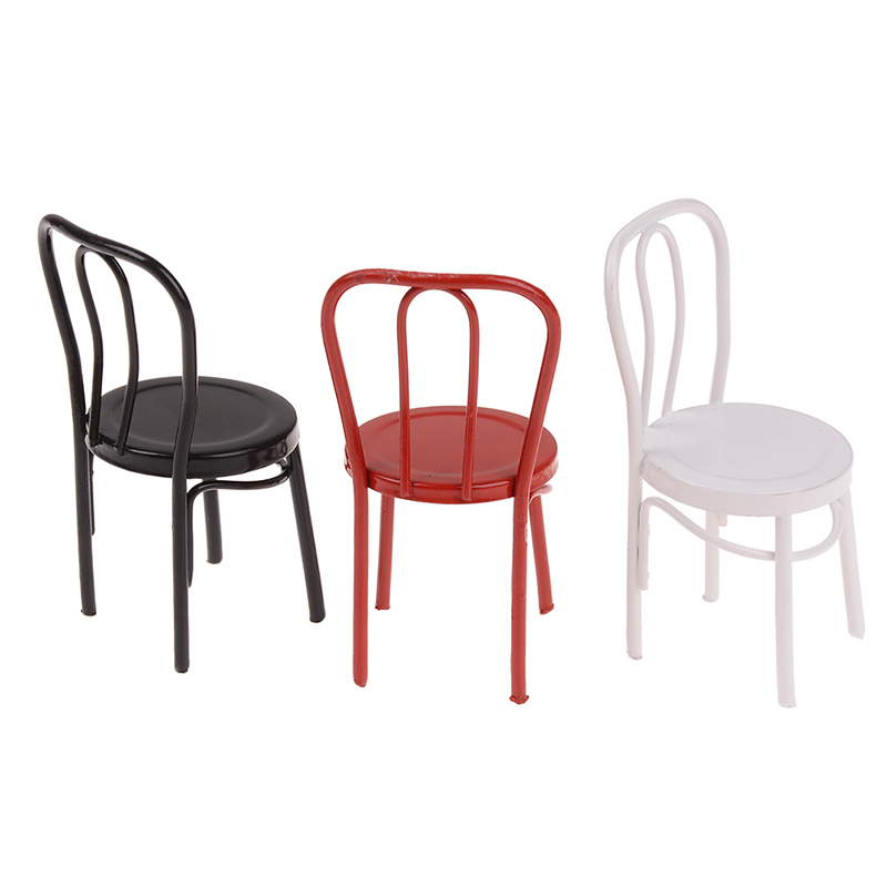 1 Pcs 1:12 Eisen Stuhl Modell Für Kinder Puppenhaus Miniatur Puppen Mini Stuhl Spielzeug Für Puppen Haus Möbel Spielzeug