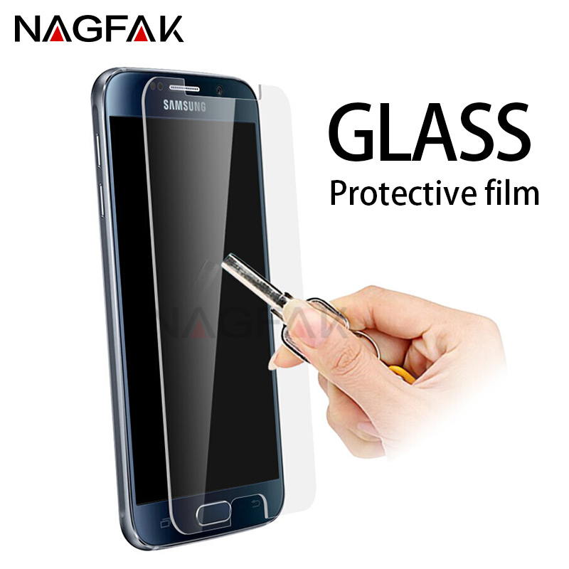 NAGFAK Anti Shatter Tempered Glass For Samsung Galaxy S7 S6 S4 S5 Screen Protector For Samsung Galaxy Note 5 4 3 Tempered Glass