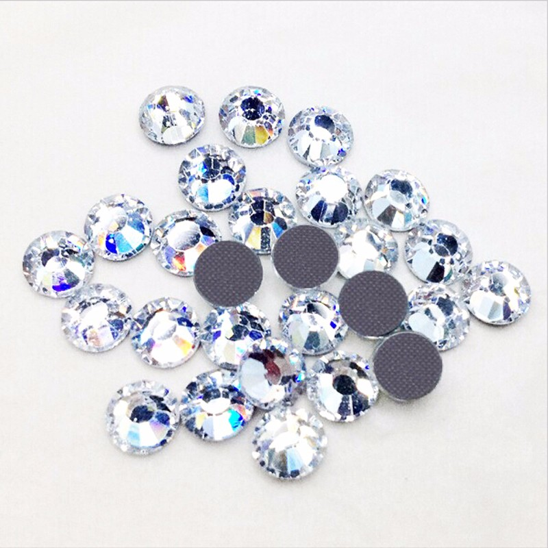 DMC hotfix ss8 good quality hot fix rhinestones crystal clear for hotfixing  on garments a03121bbeafe