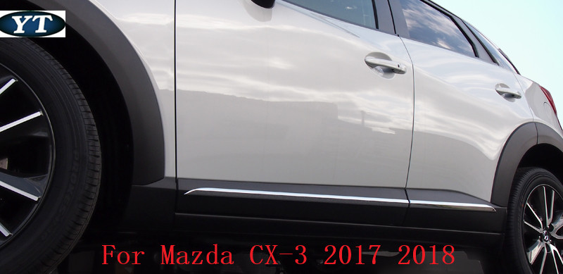 ABS chrome auto side door trim moulding for mazda cx 3 2017 2018 ABS chrome