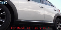 ABS chrome auto side door trim moulding for mazda cx 3 2017 2018,ABS chrome