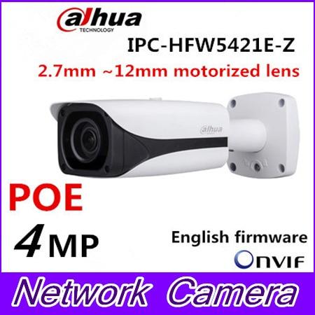 Dahua IP Camera IPC-HFW5421E-Z Varifocal Motorized Lens Full HD 4MP Network IR Bullet CCTV Camera Support POE DH-IPC-HFW5421E-Z dahua 3mp motorized ip camera ipc hfw2320r zs 2 7mm 12mm new model replace for ipc hfw2300r z cctv camera free shipping