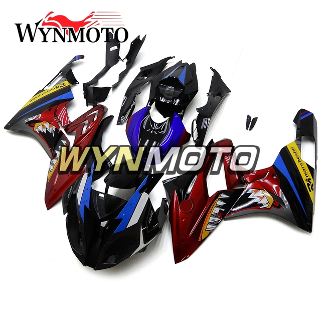 Dark Red Blue Complete Abs Injection Plastics Fairings For Bmw