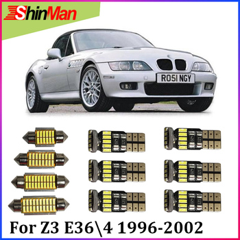 ShinMan 7X Error Free Auto LED CAR Light Car LED Interior Car lighting For BMW Z3 E36/4 LED Interior Light kit 1996-2002 LED CAR image