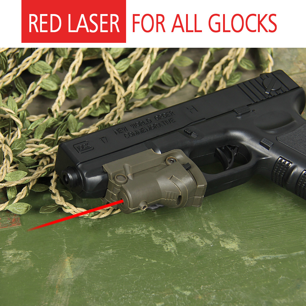 Tactical laser scope red laser sight for glock and pistol with lateral grooves for hunting GZ200019|laser sight|laser sight for glock|red laser sight - title=