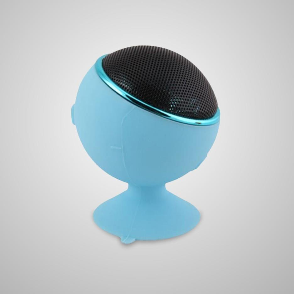 Silicone Little Bluetooth Speakers StickUp Waterproof for Car & any Flat Surface Built-in microphone That Ensures a Good Hands