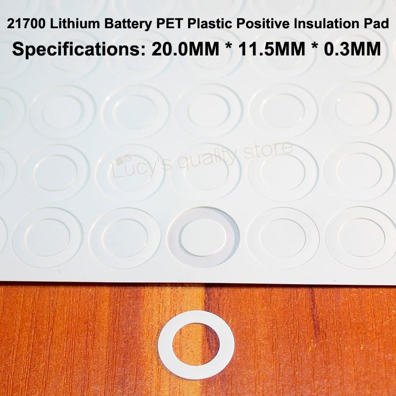 100pcs lot 21700 Lithium Battery font b PET b font Plastic Positive Hollow Flat Insulation Pad
