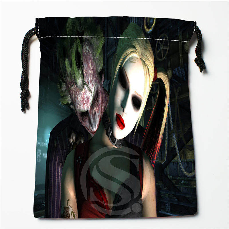 T&w144 New Batman Joker Harley Quinn #8 Custom Printed  Receive Bag Compression Type Drawstring Bags Size 18X22cm F725&T144nm