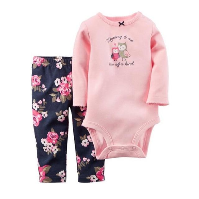 KidsTales детей девочек новорожденный обезьяны одежда осень одежда брюки тела + 2 единиц для ребенка, девушка, мальчик 6-24 М