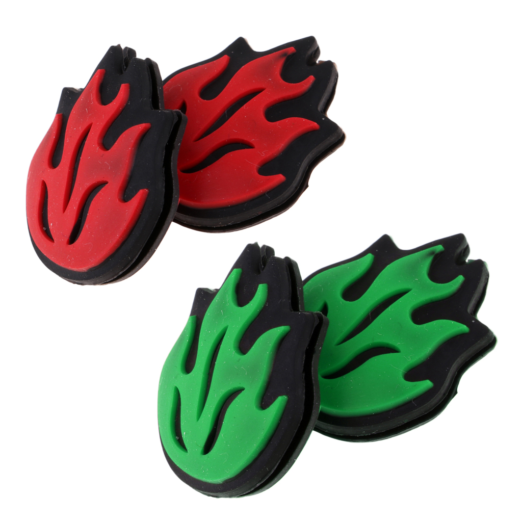 4 Pieces / Pack Silicone Practical Flame Tennis Racket Vibration Dampeners