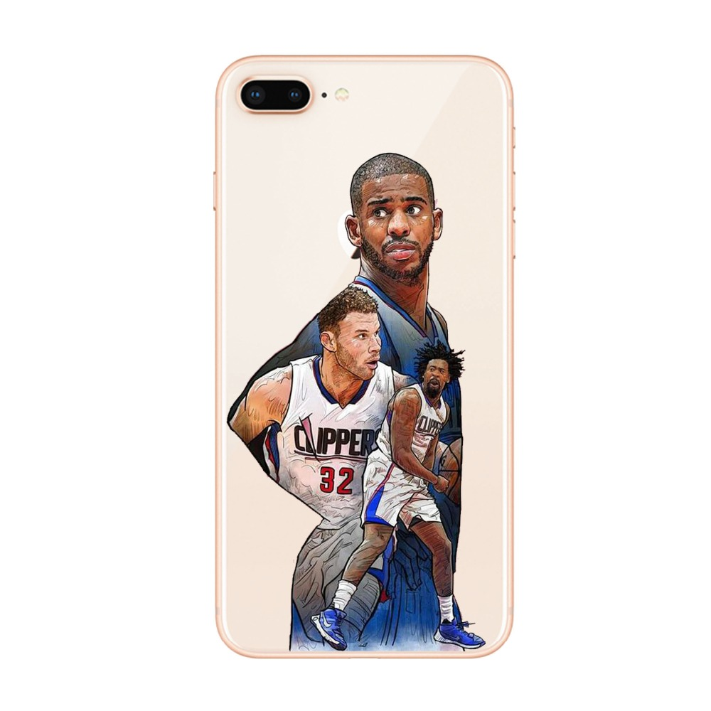 Basketball Phone Case Kobe James Jordan For iPhone X XS XR 8 7 6 6S Plus 5 5s SE Coque Basketball Star Silicon TPU Cover Fundas