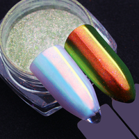 Unicorn Chrome Chameleon Nail Glitter 1g Metallic Effect Powder Nail Art Chrome Pigment Mermaid Powder Nail