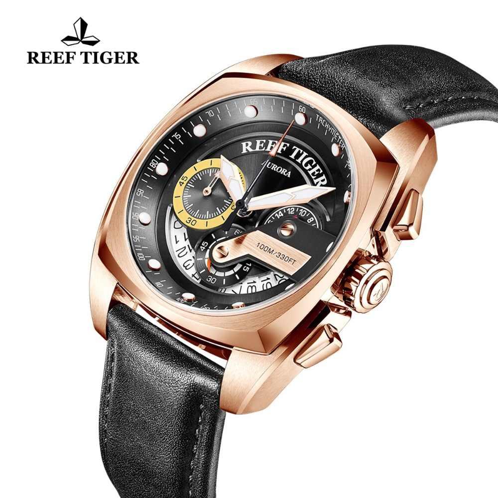 שונית טייגר/RT חדש אופנה ספורט שעון גברים הכרונוגרף קוורץ שעונים צבאי שעון עמיד למים relogio masculino 2019 RGA3363