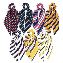 цена на New Chiffon Scrunchies Elastic Hair Band Bow Hair Ropes Girls Hair Ties Accessories Sweet Women Headwear Head Band Drop Shipping