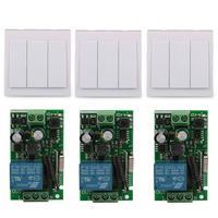 Wall Switch 3 CH Transmitter Module 1 CH Relay Receiver 433MHz RF TX System RF RX