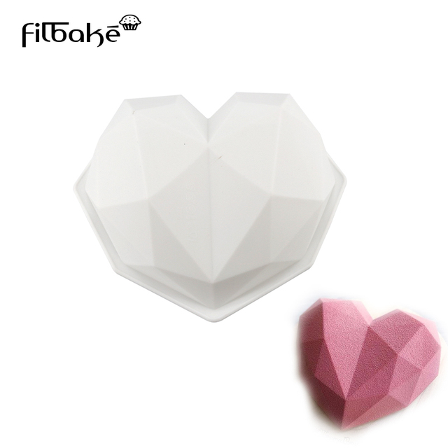 Filbake Diy Heart Bakeware Silicone Cake Mold Valentine Chocolate