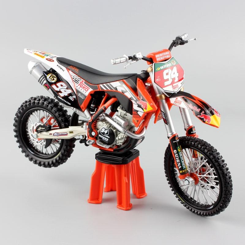 1/12 Scale No.94 KEN ROCZEN KTM 250 SXF 2011 Enduro Motorcycle Redbull Diecast & Vehicles Metal Models Race Motocross Bike Toys