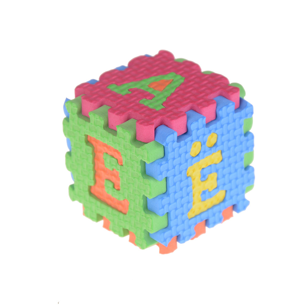 36 шт., инструмент для раннего детского образования, поролоновый ковер, мультяшная надпись, цифровая головоломка, коврик для ползания ребенка, креативный инструмент для изучения языка