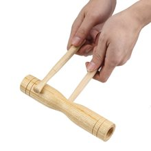 Baby Kids toy Wooden Percussion Instrument Croak Block with 2 Mallet for Children Musical Toys Temple Block