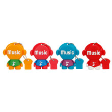 cartoon music notes USB flash drive 2.0 4GB 8GB 16GB 32GB 64GB new style pendriver usb stick