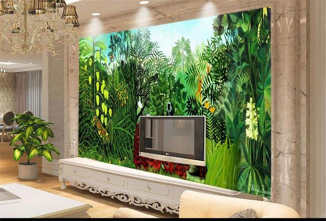 Living Room Jungle custom photo 3d wallpaper mural non woven huge rousseau's jungle