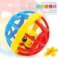 Suave bola de la diversión sonajeros shaker anillo chocalhos montessori juguetes para bebés 0-12 meses para niños sonajeros campana de mano del bebé sonajero juguete