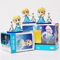 2 teile/satz Elsa und Olaf Action-figuren Spielzeug Elsa Prinzessin Puppe Nendoroid Königin Elsa PVC Sammlung Modell Spielzeug 4