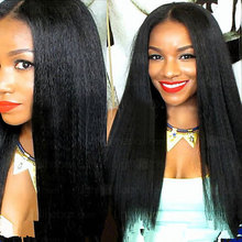 7A Brazilian Kinky Straight Full Lace Human Hair Wigs perruque cheveux humain Lace Front Human Hair Wigs Black Women U Part Wig