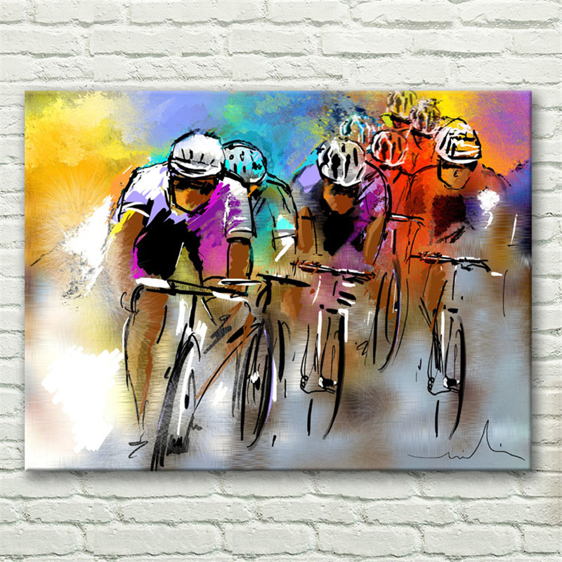 Popular bicycle race pictures buy cheap bicycle race for Bicycle painting near me