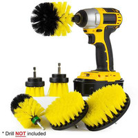 3pcs Power Scrubber Brush Set Drill Scrubber Brush for Bathroom Cleaning Cordless Drill Attachment Kit Power Scrubber Brush