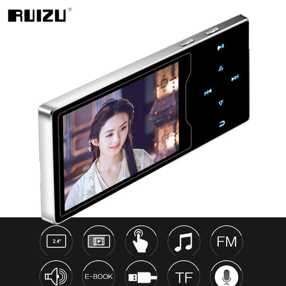 RUIZU D08 8 gb Metallo MP3 Lettore 2.4in HD Grande Schermo a Colori AD ALTA FEDELTÀ del Suono Senza Perdita di FM Radio Ebook Lettore Video con Built-In Altoparlante