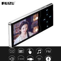 RUIZU D08 8GB Metal MP3 Player 2.4in HD Large Color Screen HIFI Lossless Sound FM Radio Ebook Video Player With Built in Speaker