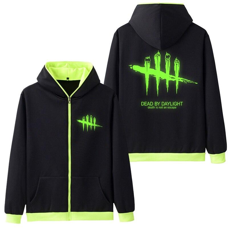 Game Dead by Daylight Logo Mens Hoodies Cosplay Coat Clothing Casual Hoodie Luminous Unisex Jacket Sweatshirt