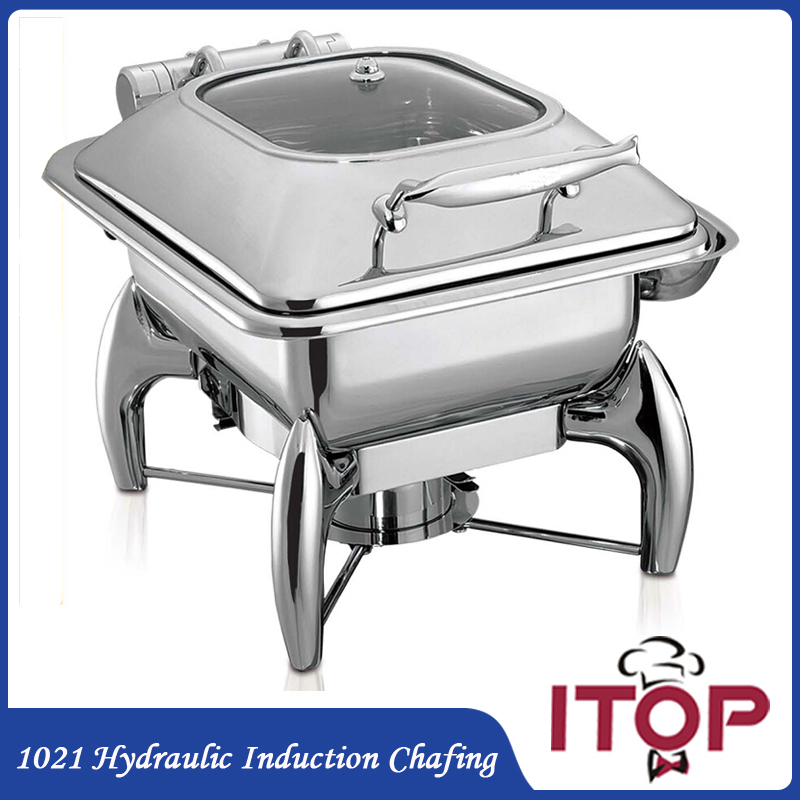Cafeteria Food Pans ~ Hydraulic induction l chafing dish with gn food pan