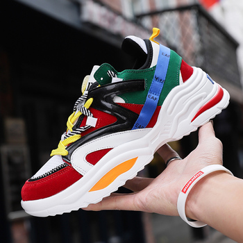 Thick Sole Women Running Shoe Breathable INS Ulzza Harajuku Platform Sneaker Light Increasing Men Vintage Dad Chunky Walk ABO 48 1