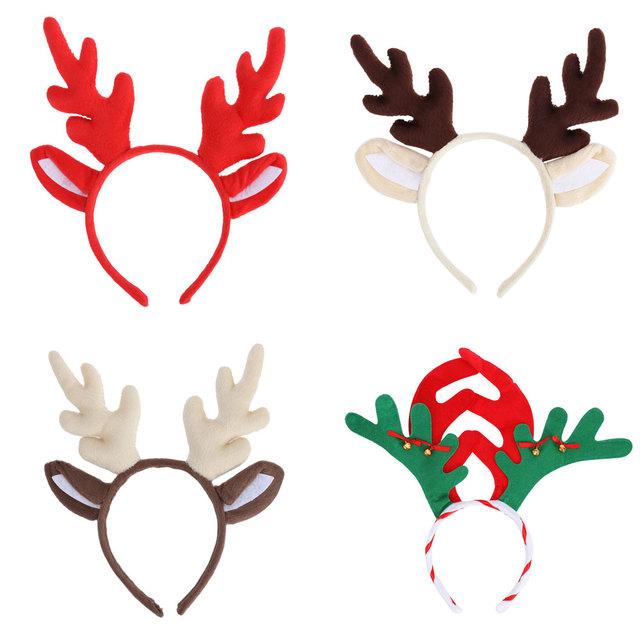 4884a21c1d5a0 1 PC Reindeer Antler Hair Hoop Christmas Kids Headband Headwear for  Children Christmas Costume Party Decoration-in Christmas Headbands from  Home   Garden on ...