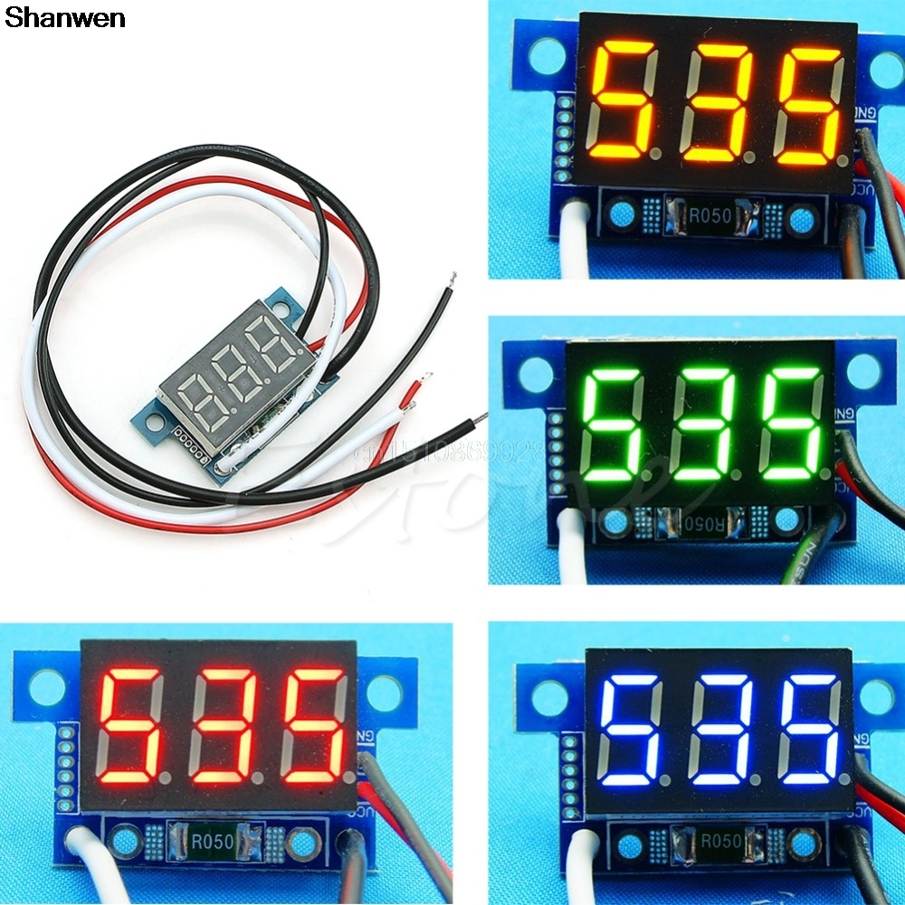 1Pc Mini LED 0 999mA DC 4 30V Digital Panel Ammeter Amp Ampere Meter ...