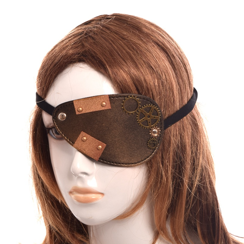 1pc Unisex Vintage Steampunk Gear Eye Patch Gothic Masks Cosplay